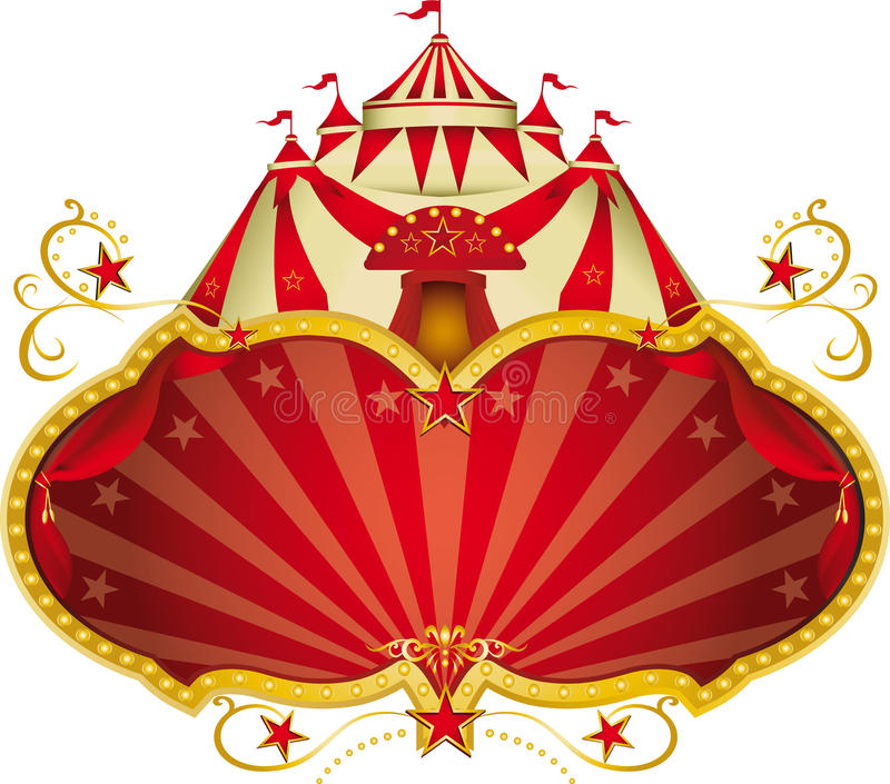 Μαγική μεγάλη κορυφή τσίρκων απεικόνιση αποθεμάτων