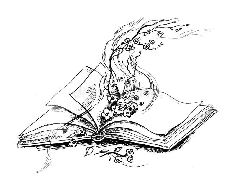 μαγική σειρά βιβλίων διανυσματική απεικόνιση
