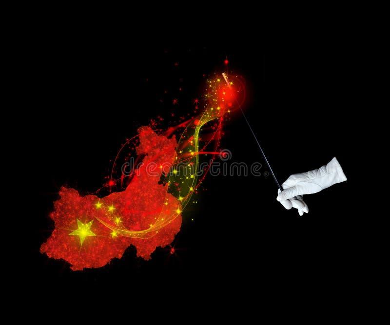 Μαγική σημαία της Κίνας στοκ φωτογραφίες