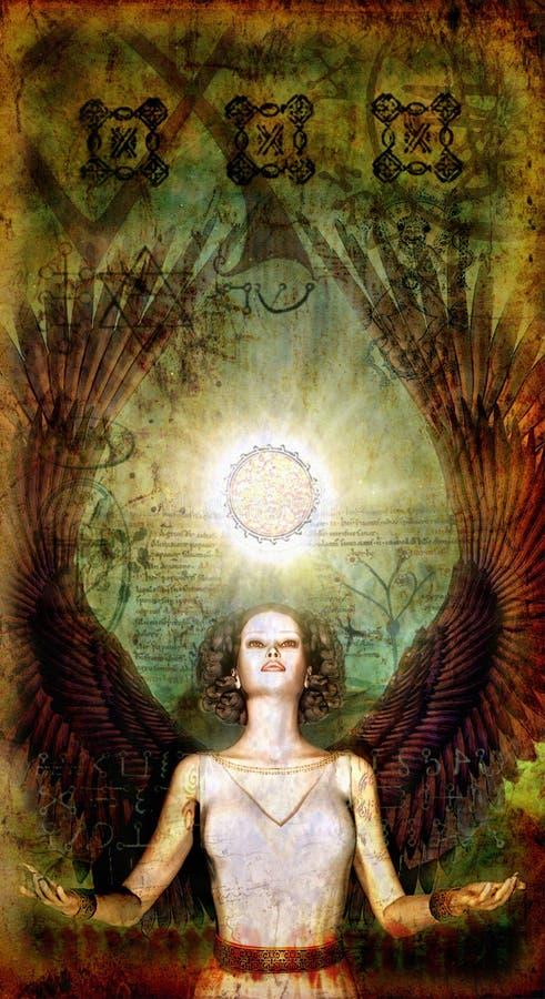 μαγικός αγγέλου που χρω διανυσματική απεικόνιση