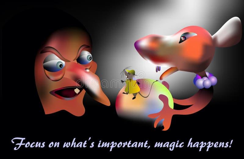 Μαγικός συμβαίνει, έννοια διανυσματική απεικόνιση