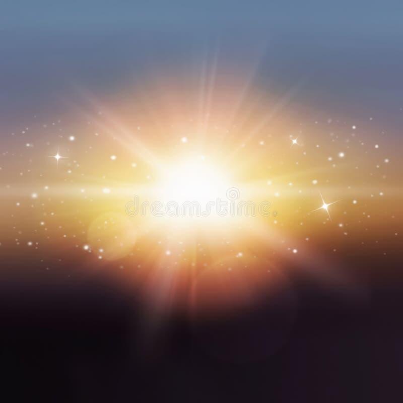 Μαγικό βαθύ διάστημα αφηρημένη ανασκόπηση στοκ εικόνα με δικαίωμα ελεύθερης χρήσης