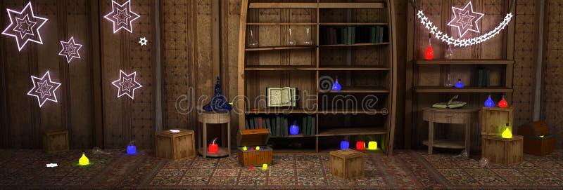 μαγικό δωμάτιο διανυσματική απεικόνιση