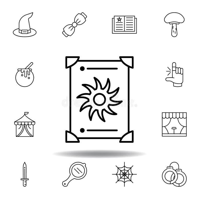 μαγικό εικονίδιο περιλήψεων tarot στοιχεία του μαγικού εικονιδίου γραμμών απεικόνισης τα σημάδια, σύμβολα μπορούν να χρησιμοποιηθ ελεύθερη απεικόνιση δικαιώματος