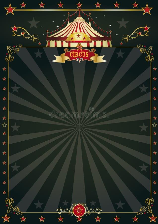 Μαγικό μαύρο τσίρκο ελεύθερη απεικόνιση δικαιώματος