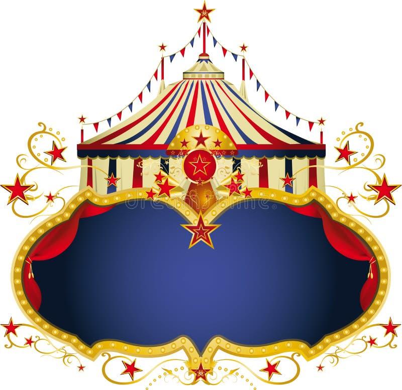 Μαγικό μπλε πλαίσιο τσίρκων απεικόνιση αποθεμάτων