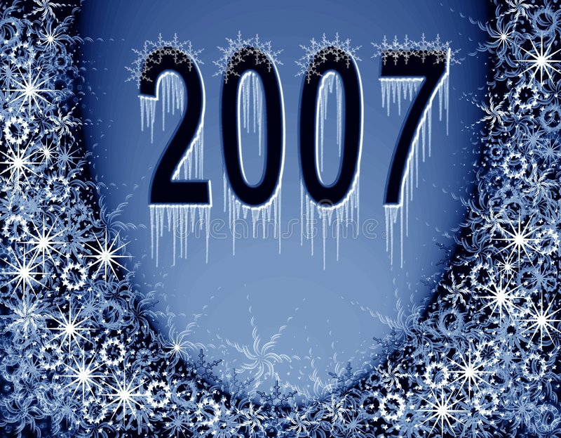 Download μαγικό νέο έτος πλαισίων Χρ&io Απεικόνιση αποθεμάτων - εικονογραφία από διακόσμηση, νιφάδες: 1543015