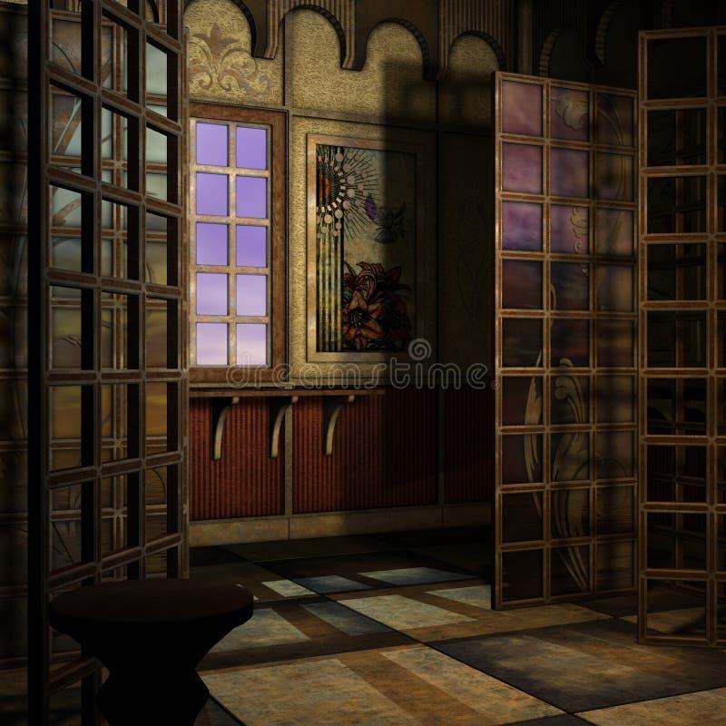 μαγικό παράθυρο τιμής τών πα&r διανυσματική απεικόνιση