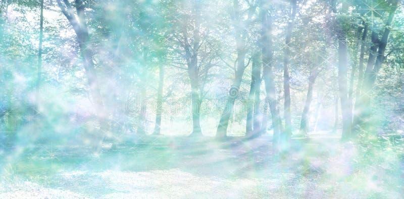 Μαγικό πνευματικό δασόβιο ενεργειακό υπόβαθρο στοκ εικόνες