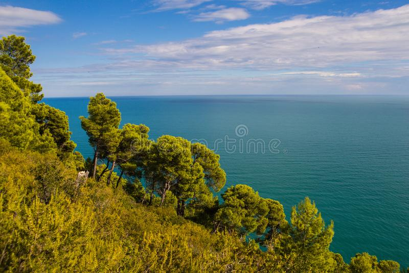 Μαγικό φθινόπωρο σε Apulia, Ιταλία στοκ εικόνα