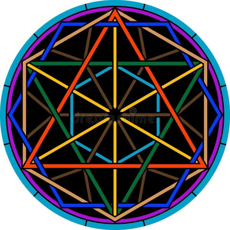 Μαγικό hexagram χρώματος διανυσματική απεικόνιση