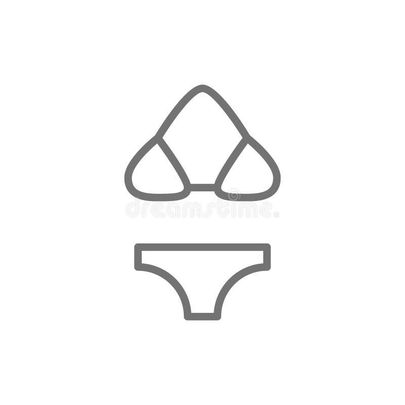 Μαγιό, μπικίνι, beachwear εικονίδιο γραμμών απεικόνιση αποθεμάτων