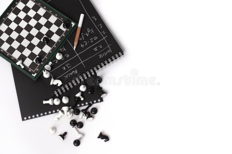 Μαγνητικά σκακιέρα και σκάκι στοκ εικόνα