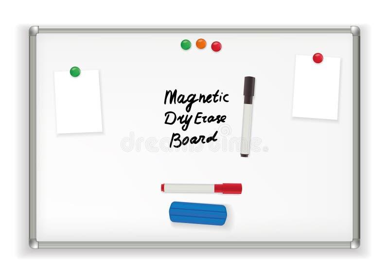 Μαγνητικός ξηρός σβήνει τον πίνακα Σχολικό γραφείο δεικτών whiteboard διανυσματική απεικόνιση