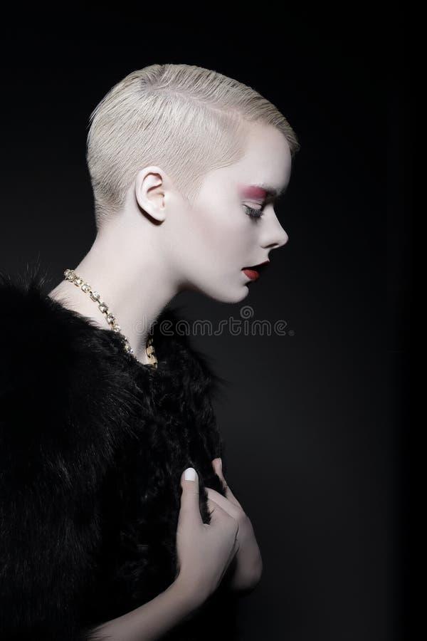 Μαγνητισμός & ελκυστικότητα Σχεδιάγραμμα της κομψής μοντέρνης γυναίκας ξανθής στοκ εικόνες με δικαίωμα ελεύθερης χρήσης