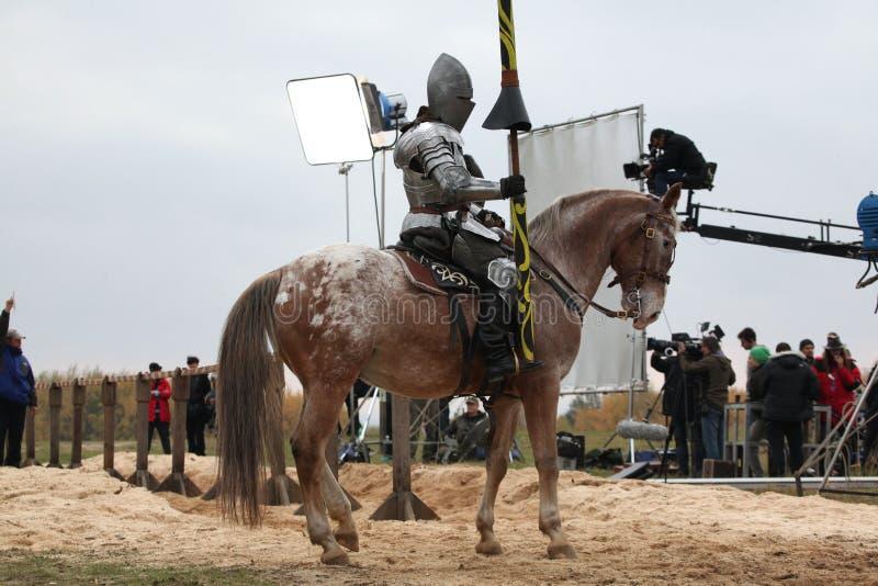 Μαγνητοσκόπηση του νέου κινηματογράφου οι ιππότες στοκ εικόνα