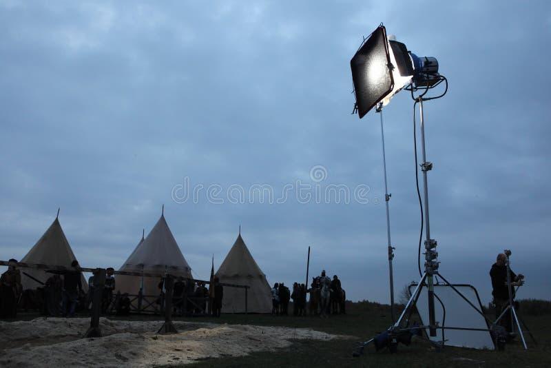 Μαγνητοσκόπηση του νέου κινηματογράφου οι ιππότες στοκ φωτογραφία