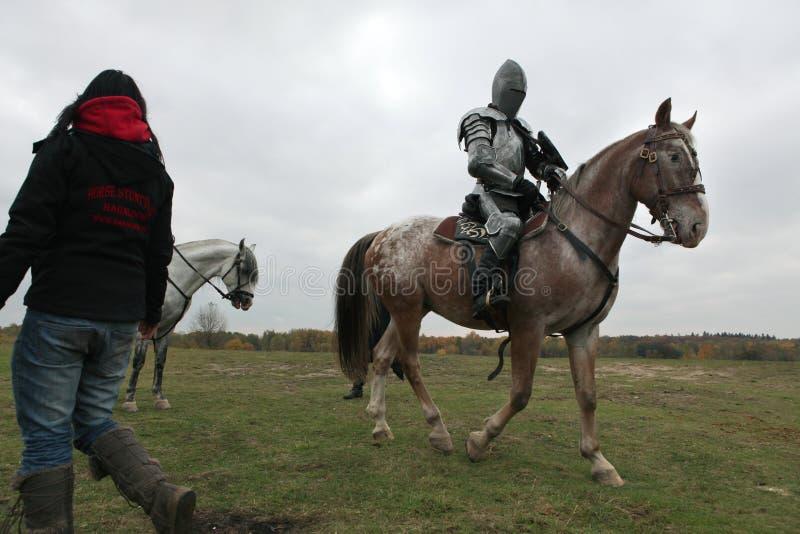 Μαγνητοσκόπηση του νέου κινηματογράφου οι ιππότες στοκ φωτογραφίες