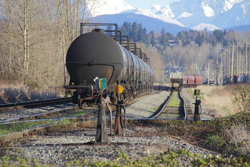 Μαζικά καύσιμα και Railyard στοκ εικόνα