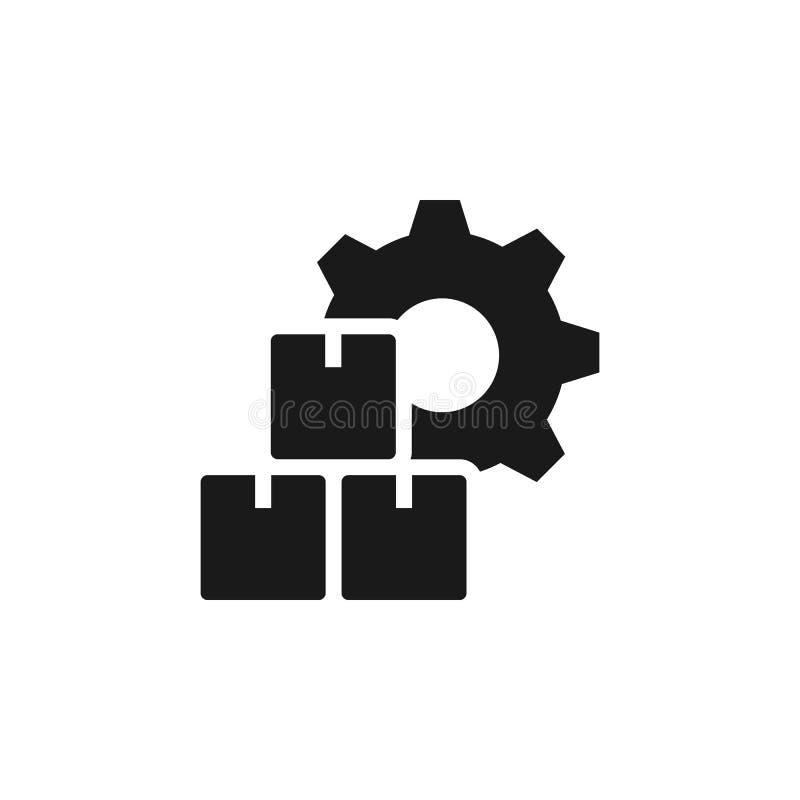 Μαζική παραγωγή, εικονίδιο κιβωτίων - διάνυσμα r Μαζική παραγωγή, εικονίδιο κιβωτίων - διάνυσμα διανυσματική απεικόνιση