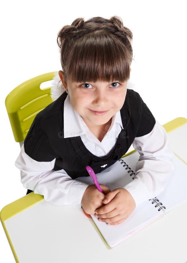 Μαθήτρια στο μάθημα στοκ φωτογραφία με δικαίωμα ελεύθερης χρήσης