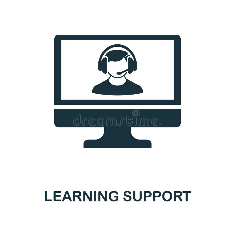 Μαθαίνοντας δημιουργικό εικονίδιο υποστήριξης Απλή απεικόνιση στοιχείων Σχέδιο συμβόλων έννοιας υποστήριξης εκμάθησης από το σε α ελεύθερη απεικόνιση δικαιώματος