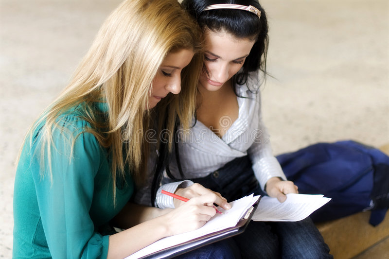 μαθαίνοντας σπουδαστές & στοκ εικόνα