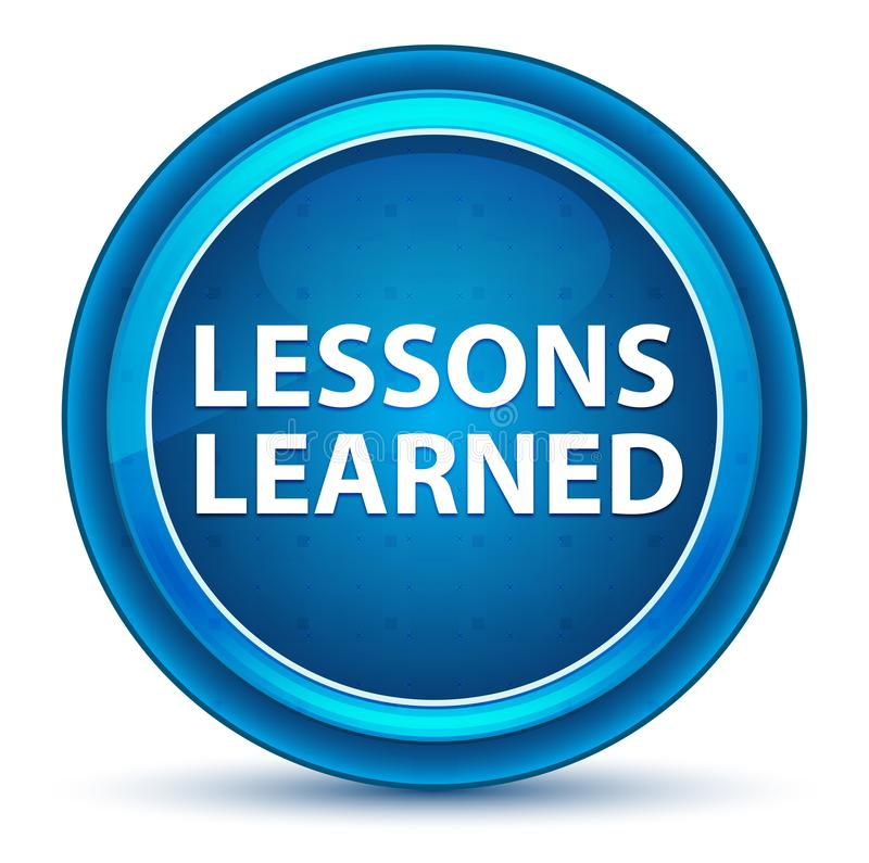 Μαθημένο μαθήματα μπλε στρογγυλό κουμπί βολβών του ματιού ελεύθερη απεικόνιση δικαιώματος