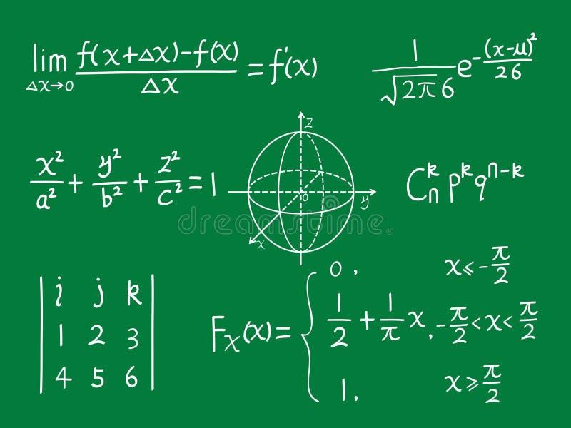 μαθηματικά κλάσης πινάκων διανυσματική απεικόνιση