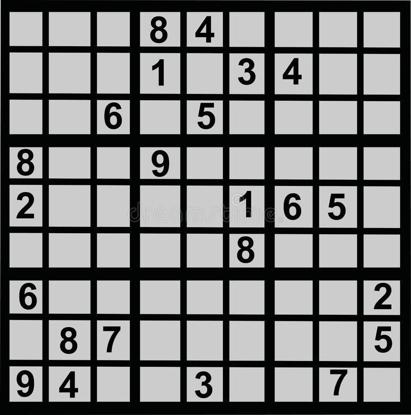 Μαθηματικά παιχνιδιών Sudoku διανυσματική απεικόνιση