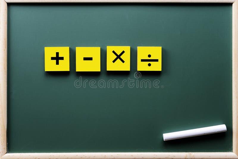 Μαθηματικά σύμβολα στοκ εικόνα με δικαίωμα ελεύθερης χρήσης