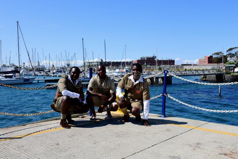 Μαθητές στρατιωτικής σχολής ναυτικού, πόλη του Simon, χερσόνησος ακρωτηρίων, Νότια Αφρική στοκ φωτογραφία με δικαίωμα ελεύθερης χρήσης