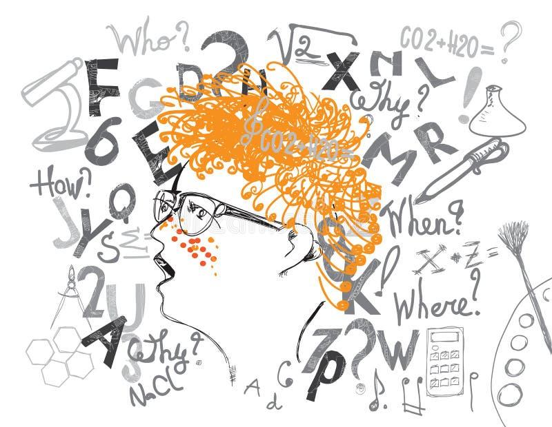 Μαθητής και υπόβαθρο εκπαίδευσης απεικόνιση αποθεμάτων