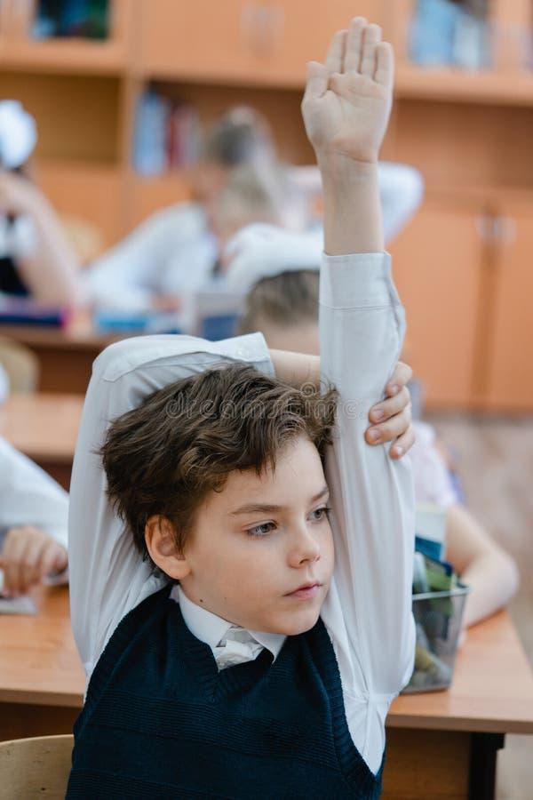 Μαθητής κατά τη διάρκεια του μαθήματος στοκ εικόνες