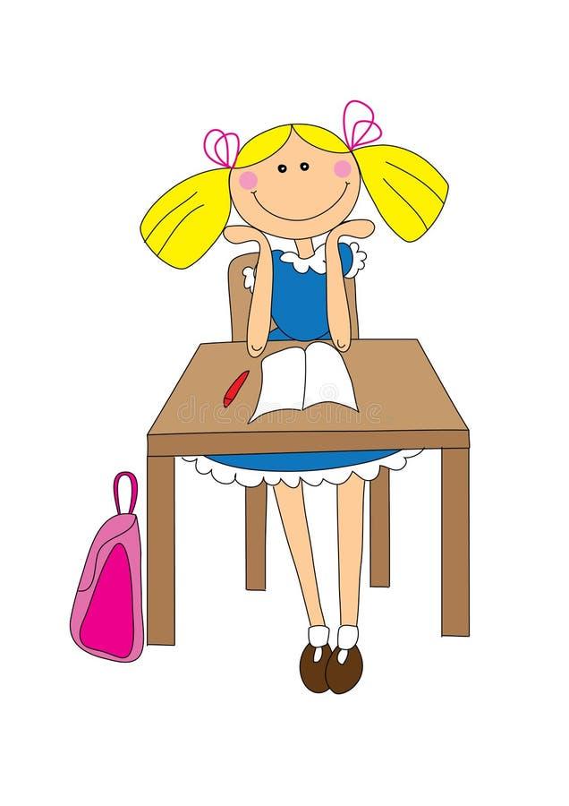 μαθητής κοριτσιών ελεύθερη απεικόνιση δικαιώματος