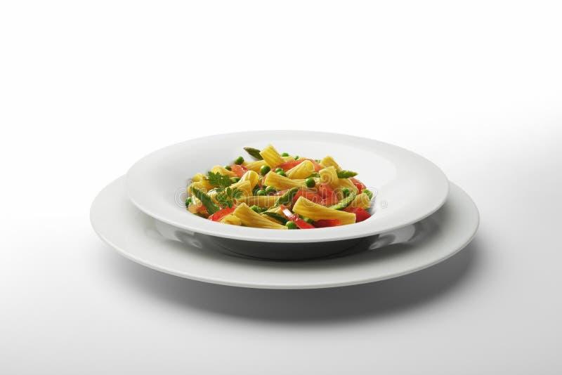 Μακαρόνια και λαχανικά πιάτων ζυμαρικών στοκ φωτογραφία