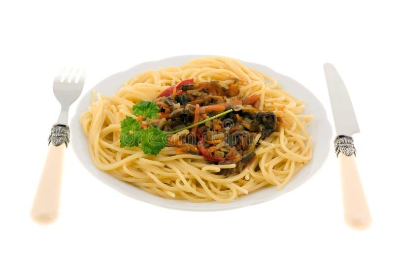 μακαρόνια πιάτων γευμάτων στοκ φωτογραφία με δικαίωμα ελεύθερης χρήσης