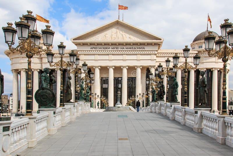 Μακεδονικό αρχαιολογικό μουσείο στα Σκόπια στοκ εικόνες
