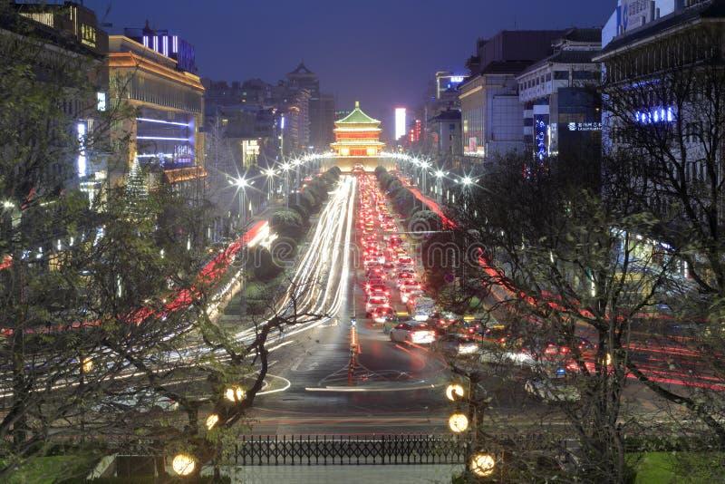 Μακριά από το xian πύργο κουδουνιών και τυμπάνων στοκ φωτογραφίες