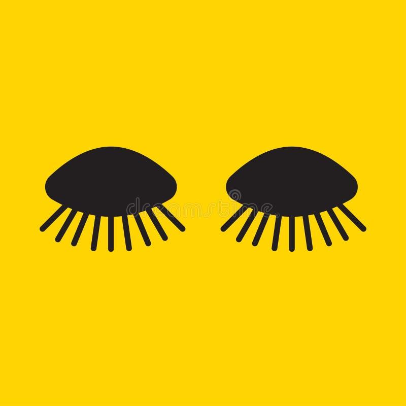 Μακριά κινούμενα σχέδια eyelashes διανυσματική απεικόνιση