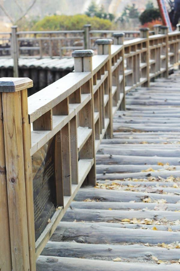 Μακριά ξύλινη γέφυρα στη Νότια Κορέα στοκ φωτογραφία με δικαίωμα ελεύθερης χρήσης