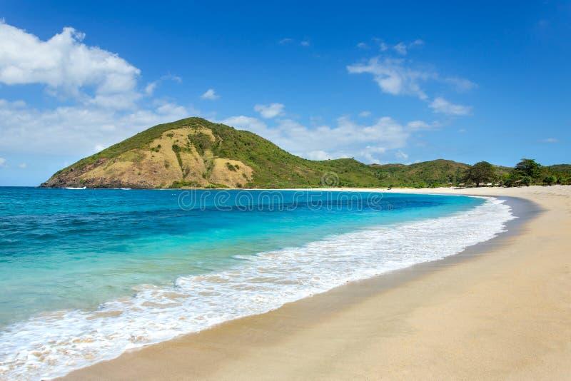 Μακριά παραλία άμμου Kuta, Lombok στοκ φωτογραφίες με δικαίωμα ελεύθερης χρήσης