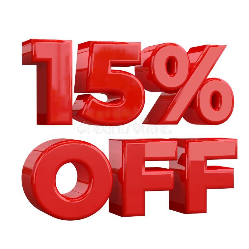 15% μακριά στο άσπρο υπόβαθρο, ειδική προσφορά, μεγάλη προσφορά, πώληση δεκαπέντε τοις εκατό από το προωθητικό έμβλημα, την ετικέ απεικόνιση αποθεμάτων