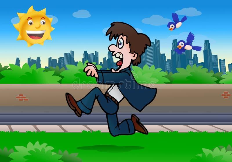 μακριά τρέξιμο επιχειρησιακών ατόμων διανυσματική απεικόνιση