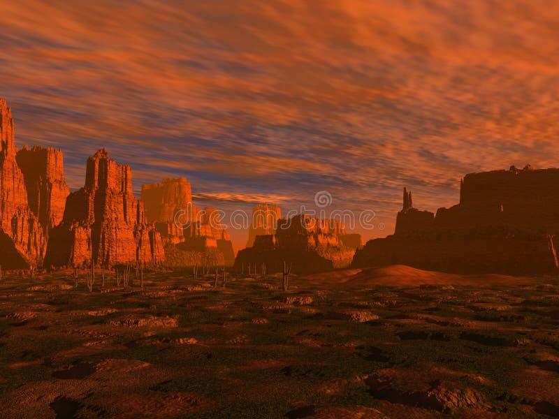 μακρινή δύση ερήμων στοκ φωτογραφία με δικαίωμα ελεύθερης χρήσης