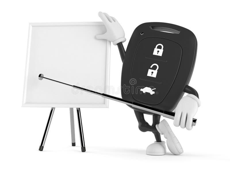 Μακρινός βασικός χαρακτήρας αυτοκινήτων με το κενό whiteboard απεικόνιση αποθεμάτων
