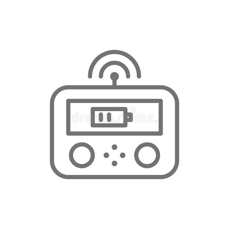 Μακρινός ελεγκτής κηφήνων, gamepad, εικονίδιο γραμμών πινάκων ελέγχου απεικόνιση αποθεμάτων