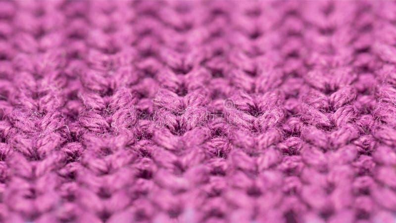 Μακροεντολή μοτίβου βιολετί με μάλλινο χρώμα, κλείσιμο στοκ φωτογραφία με δικαίωμα ελεύθερης χρήσης