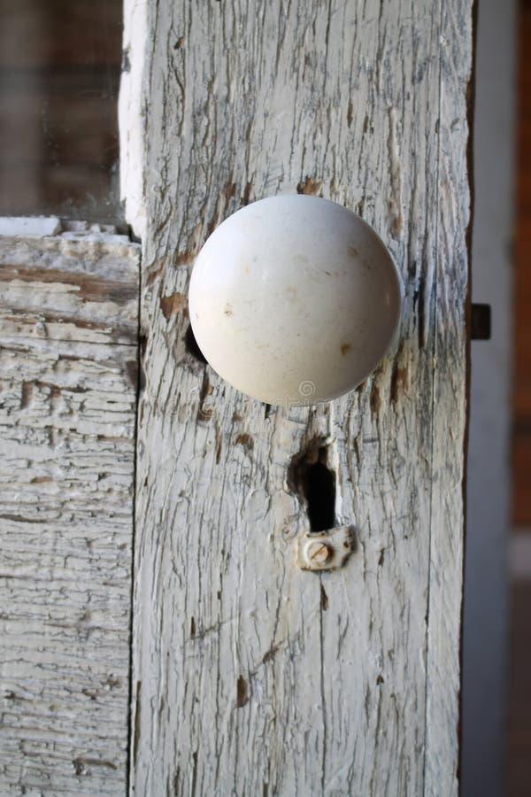 Μακροεντολή παλαιό Doorknob στοκ εικόνες