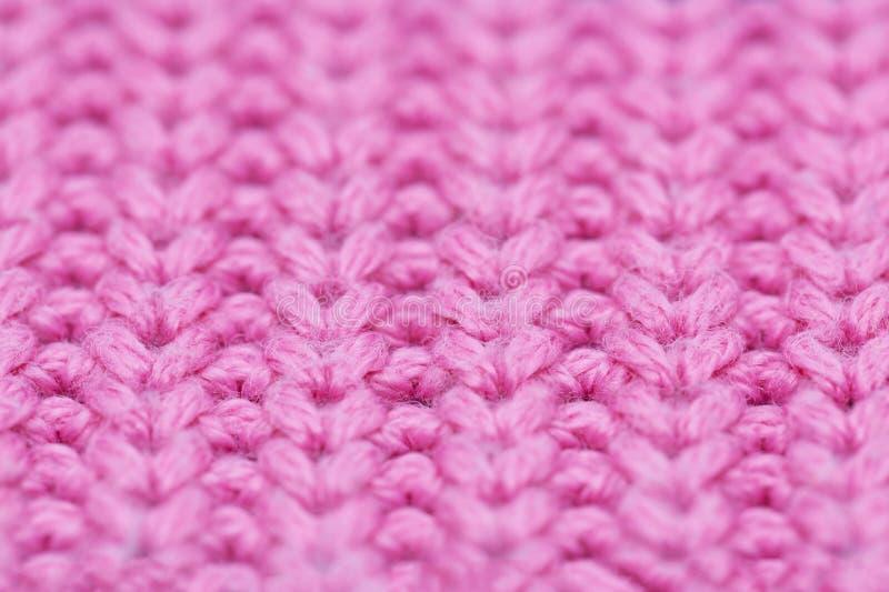 Μακροεντολή ροζ μοτίβου μάλλινης, κλείσιμο στοκ εικόνες με δικαίωμα ελεύθερης χρήσης
